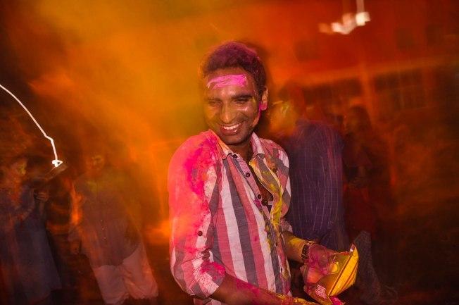 holi in ashram